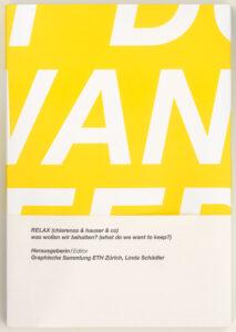 graphische sammlung eth Zürich publikation RELAX